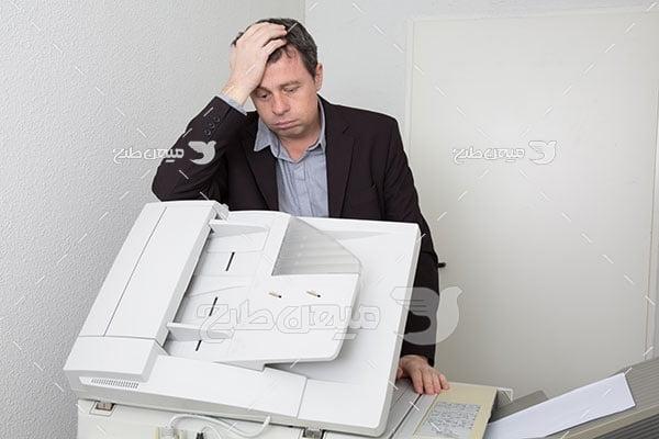 عکس خرابی دستگاه کپی