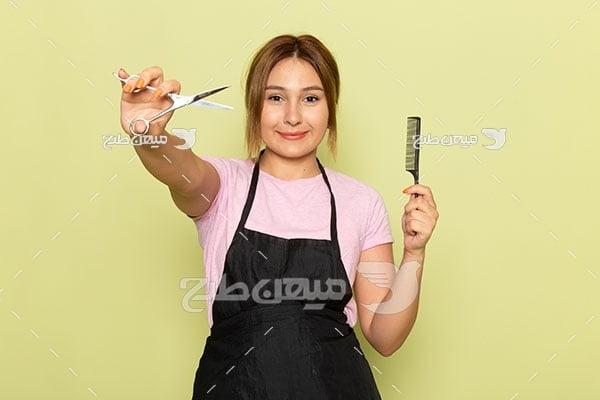 عکس آرایشگر زنانه