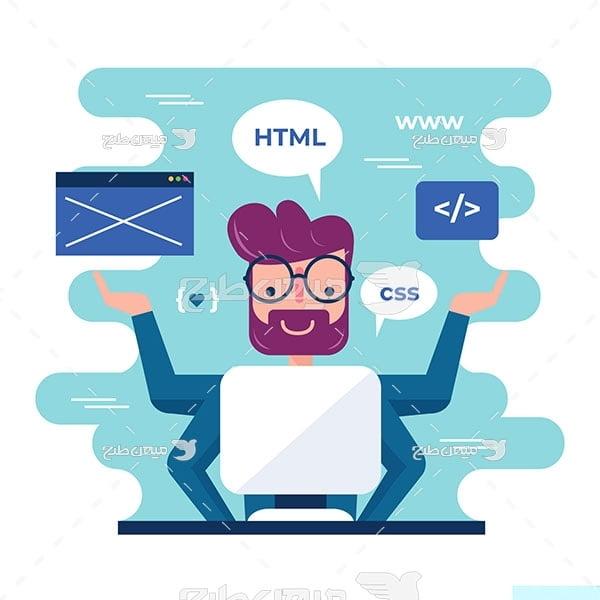 وکتور کاراکتر طراحی وب