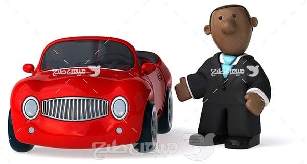 عکس رانندگی ماشین عروسکی
