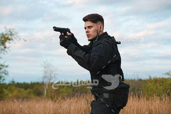 عکس مامور پلیس ویژه