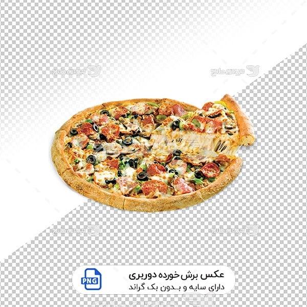 عکس برش خورده پیتزا ایتالیایی
