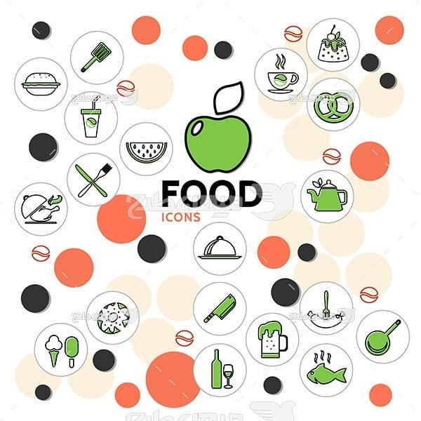 آیکن مواد غذایی