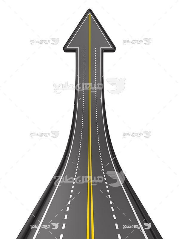 عکس جاده شکل فلش رو به بالا
