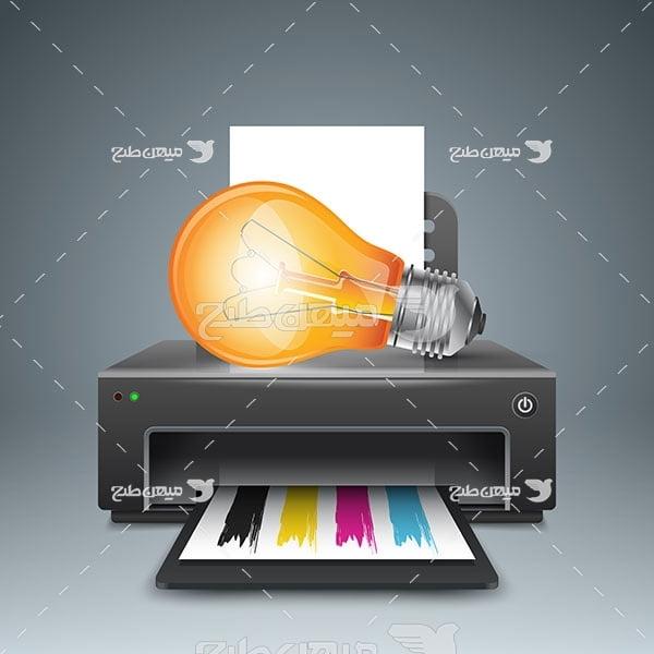 وکتور چاپگر رنگی