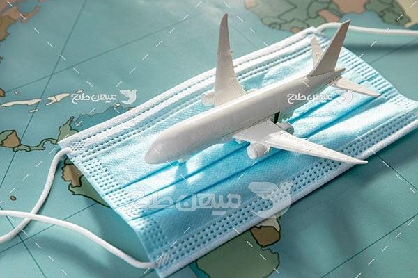 عکس مسافرت هوایی در کرونا