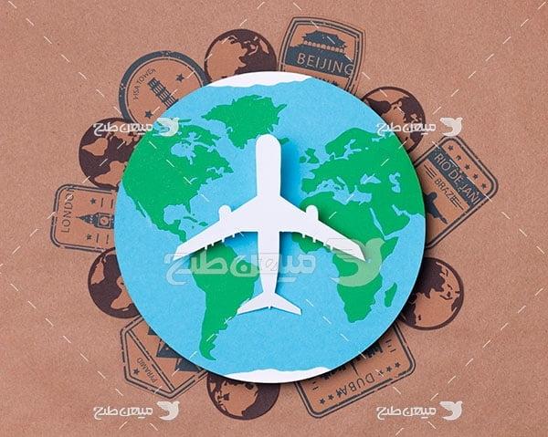 عکس مسافرت دور دنیا با هواپیما