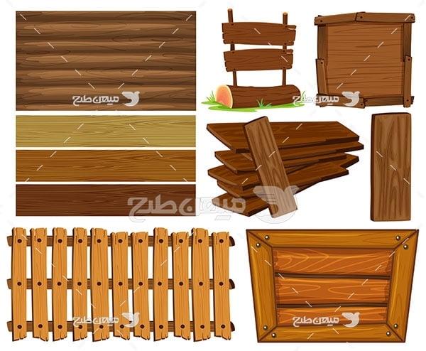 وکتور چوب و الوار