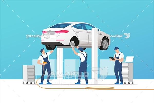 وکتور خدمات تعمیر خودرو