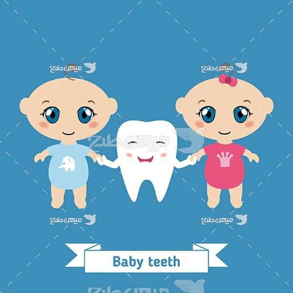 وکتور کاراکتر دندانپزشکی کودک