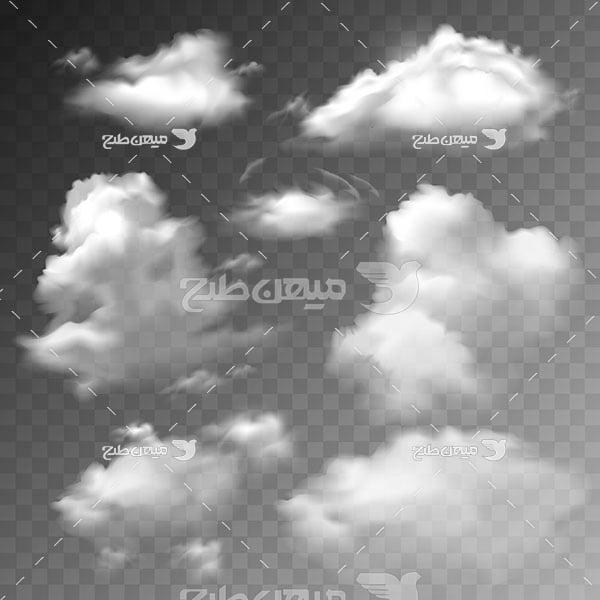 وکتور کاراکتر المان گرافیکی ابر