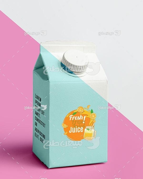 موکاپ پاکت آب پرتقال