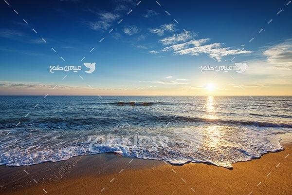 عکس  ساحل دریا