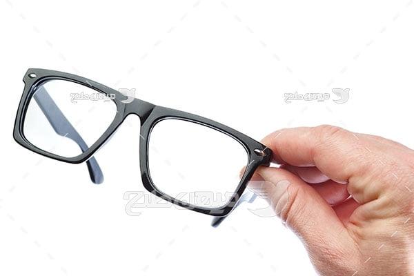 عکس عینک فرم مشکی