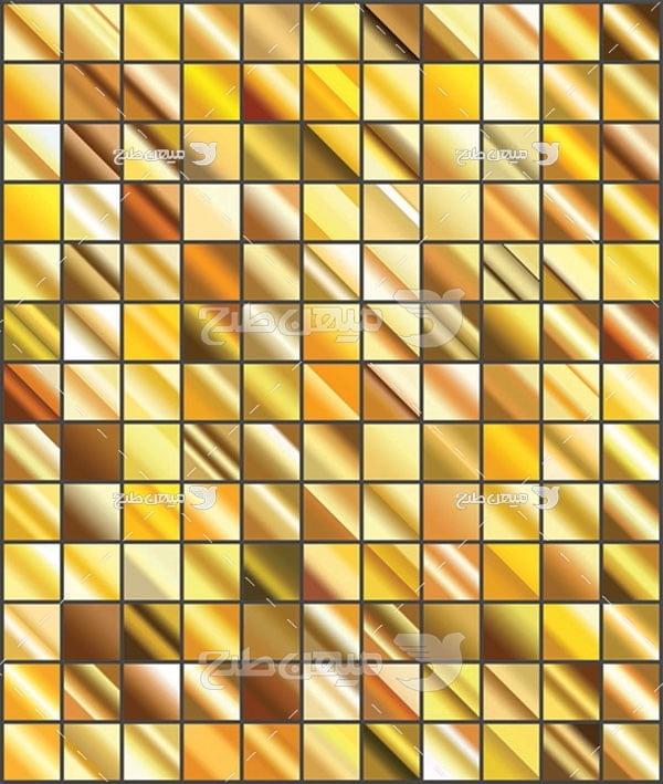مجموعه ابزارهای فتوشاپ گرادینت طیف مورد رنگ زرد تیره