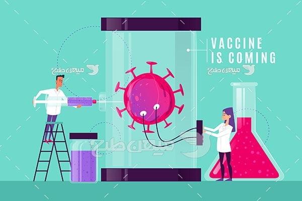 وکتور تست واکسن کرونا