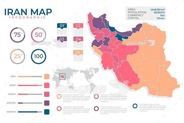 وکتور نقشه اطلاعات کشور ایران
