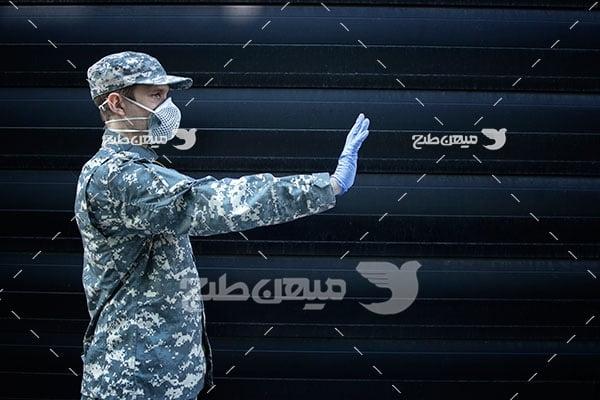 عکس نیروی نظامی مقابله با کرونا