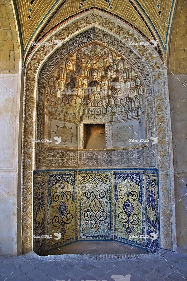 عکس نقاشی دیواری مسجد شهر کاشان