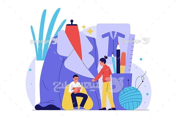 وکتور طراح و خیاط لباس