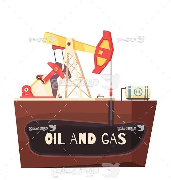 وکتور  استخراج نفت خام