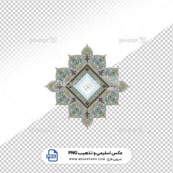 عکس برش خورده اسلیمی و تذهیب حاشیه طرح لوزی پر گل