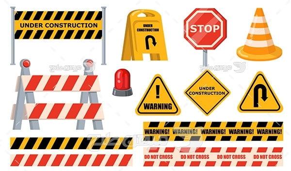 وکتور علائم خطری راهنمایی و رانندگی
