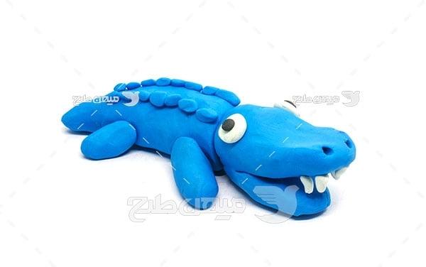 عکس تمساح خمیری
