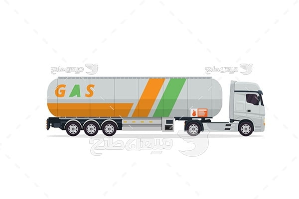 وکتور ماشین حمل گاز مایع