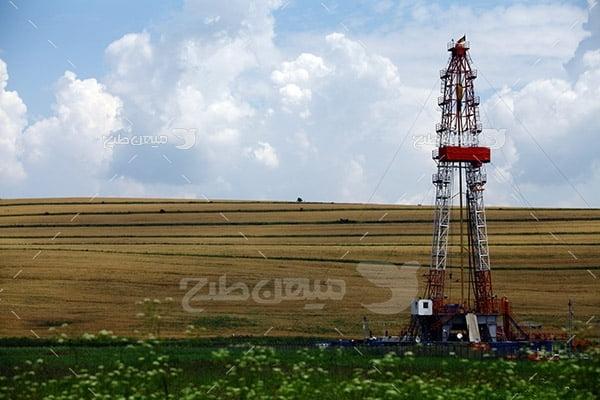 عکس  دکل حفاری نفت