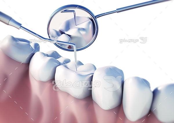 عکس تبلیغاتی پزشکی و معاینه دهان