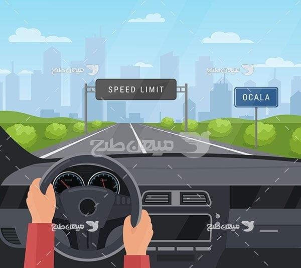 وکتور آموزش رانندگی