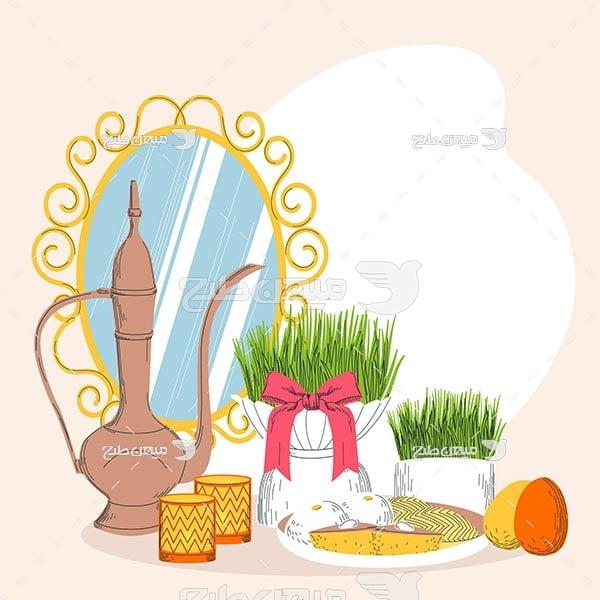 وکتور هفت سین عید