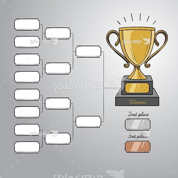 وکتور جدول جام جهانی فوتبال
