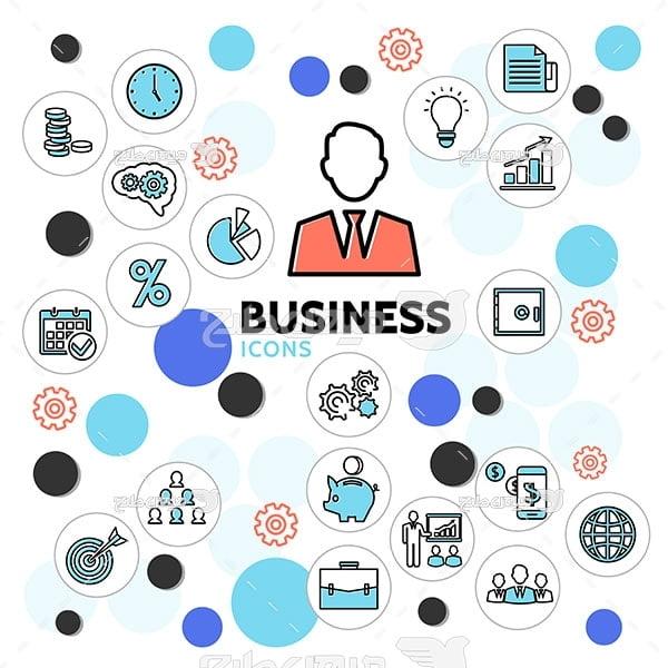 آیکن تجارت و کسب و کار