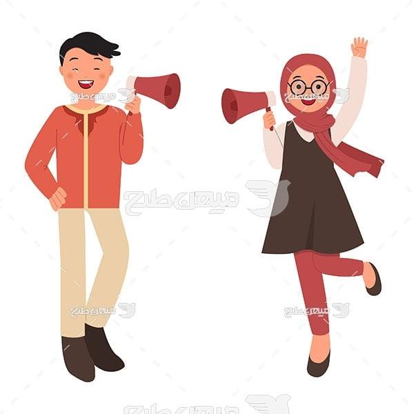 وکتور دختر و پسر ایرانی