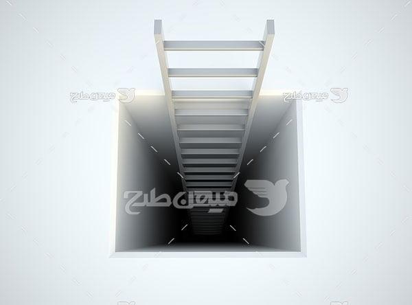 عکس نردبان به سوی تاریکی