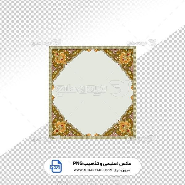 عکس برش خورده اسلیمی و تذهیب نقش قاب گلدار