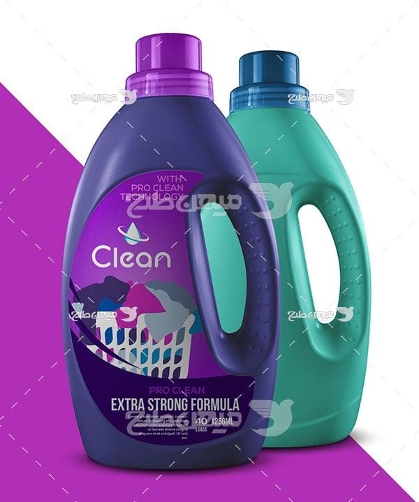 موکاپ ظرف مواد شوینده و پاک کننده