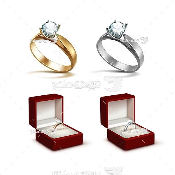 وکتور کاراکتر جواهر و انگشتر ازدواج