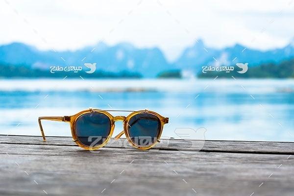عکس عینک آفتابی شیشه گرد