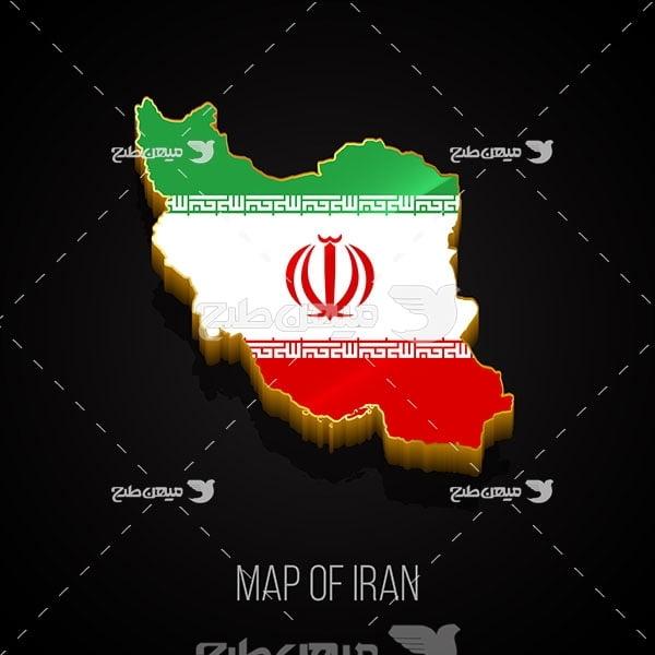 وکتور نقشه کشور ایران