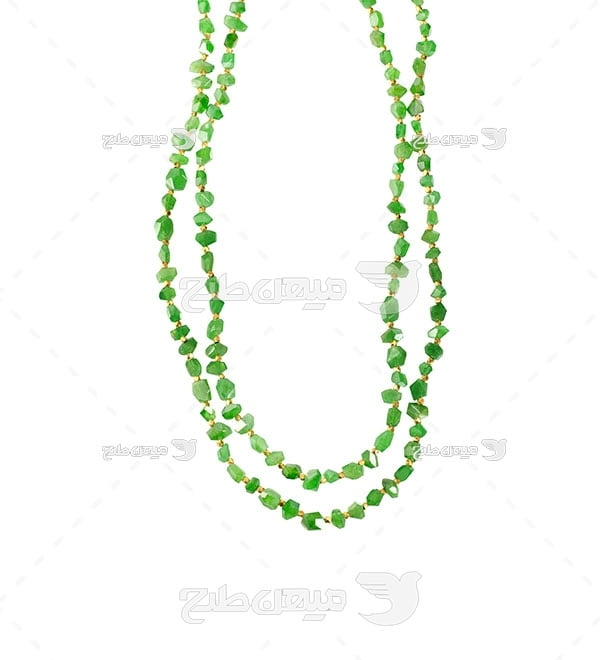 عکس گردنبند یاقوت سبز