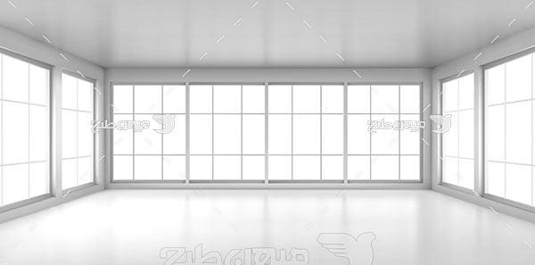 وکتور نمایی پنجره های شیشه ای ساختمان