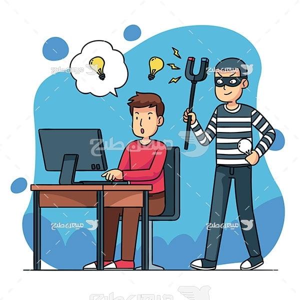 وکتور سرقت اطلاعات کامپیوتری