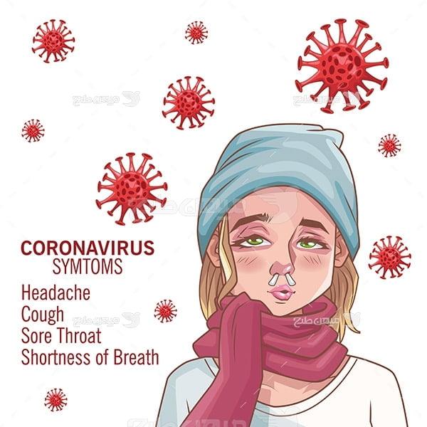 وکتور اعلائم ویروس کرونا