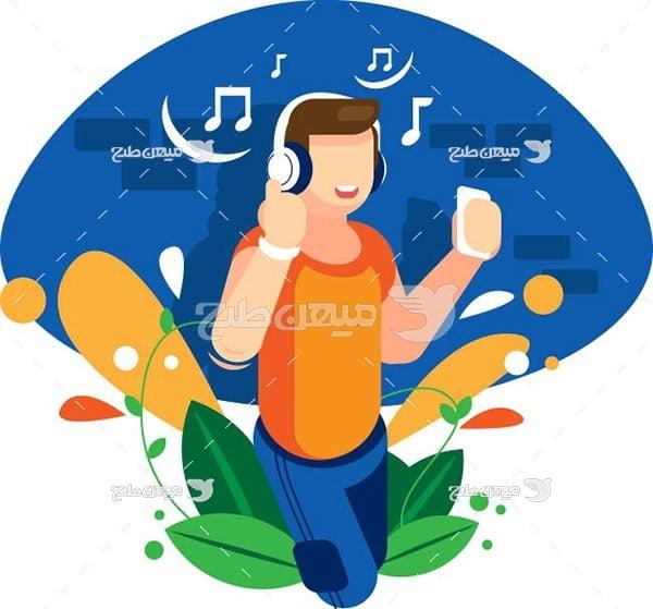 وکتور گوش دادن به موسیقی