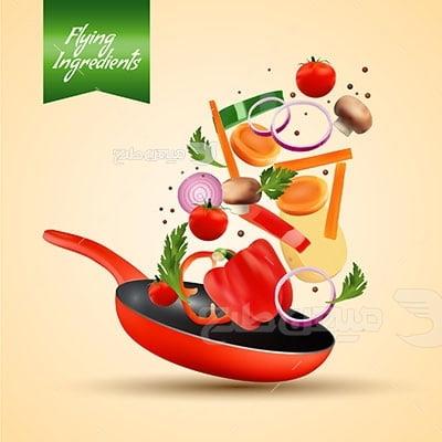 وکتور کاراکتر غذا سبزیجات