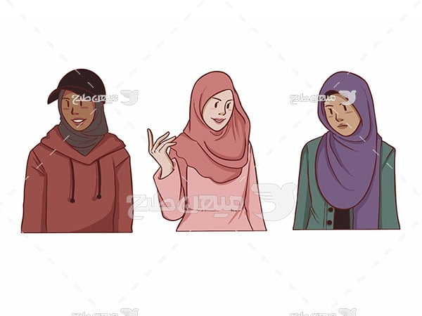 وکتور حجاب اسلامی