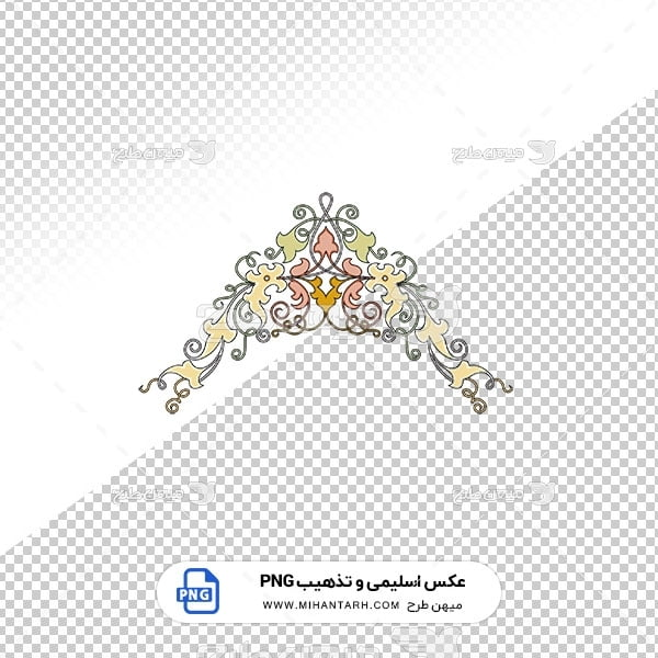 عکس برش خورده اسلیمی و تذهیب حاشیه سربرگ